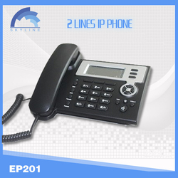 smart voip wifi sip phone EP201 with 2 lines suppor/ H323 wifi sip desk phone/voip calling termination