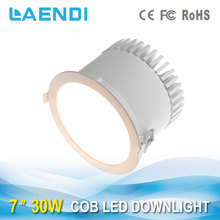 factory cob chip led downlight 6000-7000K cool white 30w led down light