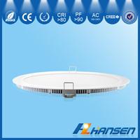LED 18w 9 inch ip40 round recessed panel light restaurant CE ROHS
