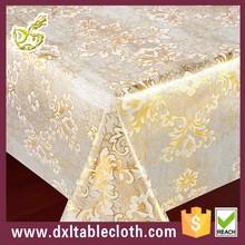 2015 Best design clear golden transparent plastic PVC Tablecloth plastic table cover