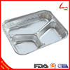 750ml Disposable Aluminum Foil Divided Food Tray With Cardboard Lid