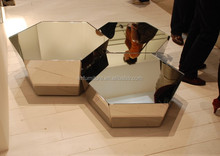 modern mirrored coffee table for living furniture