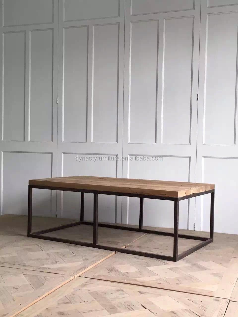 Metal industrial mesa de café salón diseño para casa de relax tapa ...