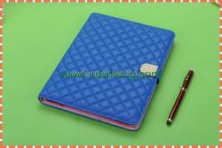 Fashion grid color Pu Leather Stand Case For ipad 2/3/4/mini