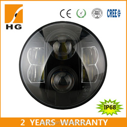 """Newest harley 7"""" round headlight led high low beam headlight for harley motorcycle HG-838A"""