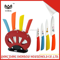 4 Pieces Colorful Promotional Ceramic Knife Set