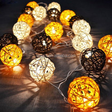 High quality decorative string light solar led ball light outdoor