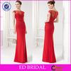 2015 Sexy Mermaid Heavy Beaded Red Satin Turkish Evening Dresses Wholesale