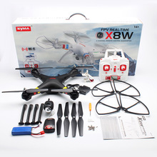 Newest Syma X8W 2.4G 4CH 6 Axis Venture Rc Quadricopter with Camera WIFI FPV Wide Angle Camera RTF RC Helicopter By Salange