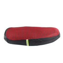 Red polyester motorcycle seat cover 3d elastic net motorcycle with reflective straps