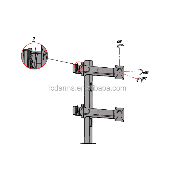 monitors bracket table mount widely used in cctv control