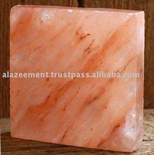 asar a la parrilla de un sobre de sal del himalaya de bloque