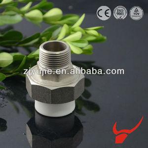 en laiton et des raccords de tuyauterie ppr matières premières fournisseur de la chine de haute qualité ppr union coupleur