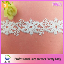 Free Logo White Gauze Lace Sewing Accessories Wholesale Trimming/Wholesale Ivory Cotton Lace Trim
