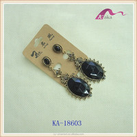 Vogue TOP Quality Classic Sections Sun Resin Antique Gold Earrings For Ladies Statement Earrings