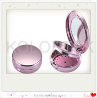 empty blush compact powder case/ compact cosmetic case/ loose powder compact case