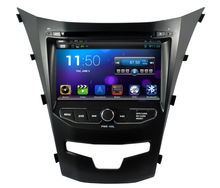 Pure android 4.2.2 Car DVD for SsangYong New Actyon/Korando 2014 with CPU Dual Core Radio Tape Recorder Stereo 8G Card