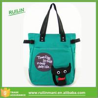 2016 new arrival fashion womens handbags cartoon messenger bag casual canvas young girl shoulder online handbags