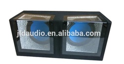 Dual 12 inch clear subwoofer box with high performance