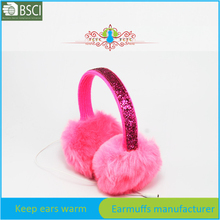 Winter music sequins earmuff with headphone