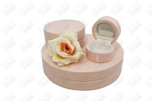 2015 newest lacquer wooden jewelry gift/package boxes round pink jewellery boxes