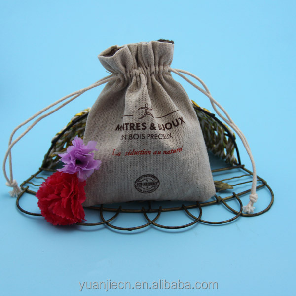 Christmas burlap funny gift bags with drawstring