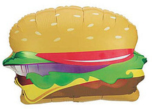 hot sale high quality hamburger shaped foil balloon