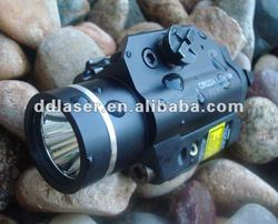 Compact Rail Mounted Green Laser Sight and Flashlight Combo