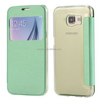 Light weight Window case cover for Samsung Galaxy S6 G920F G9200 protective skin