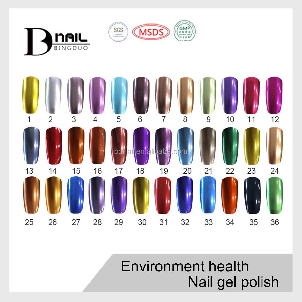 Metallic Gel Nail Polish: Best Price Metallic Gel Nail Polish High Quality Mirror