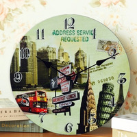 """12"""" wooden acrylic home and office wall clock for room decor"""