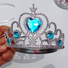 In stock factory price Electroplating plastic tiara princess crowns for kids for sale