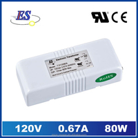 80W AC-AC Electronic transformer Power Supply for down light with ul cul