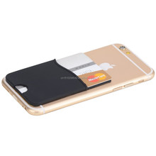 Custom design Silicone Credit Card Holder Back Adhesive Sticker Phone Card Holder