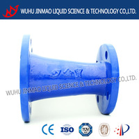 Direct manufacturer epoxy resin coasting double flanged reducer