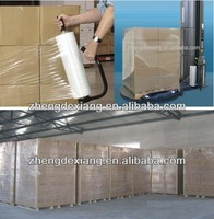 china low price plastic hand and machine pallet packaging transparent cast pe stretch film