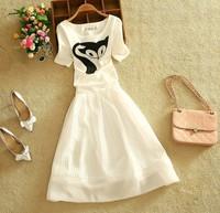 W20695G 2015 summer dress new design ladies skirt tops and long skirt