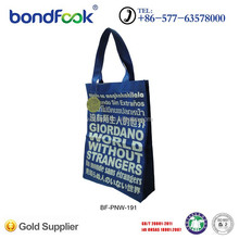 Custom gold flower printed shopping paper bag for OEM