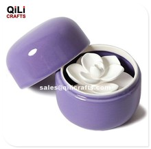 ceramic stone air freshener with ceramic container aroma flower difusser set