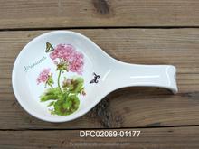 decorative ceramic spoon rest eco-friendly porcelain spoon rest