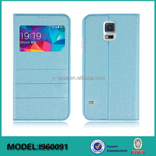 New design phone case flip cover with clear window view for Samsung Galaxy S5