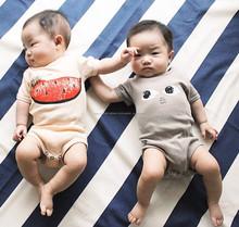 TF-04150808011 2015 moda estilo encantador watermalon orgánicos impresos de subir ropa de bebé