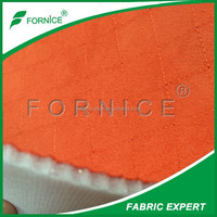FACTORY supply Dubai market 100%polyester embroidered foam backing car seat materials