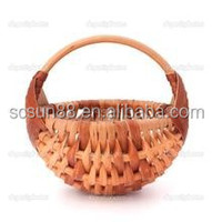 Hot sale white willow wicker Oval vegetable Baskets with handles