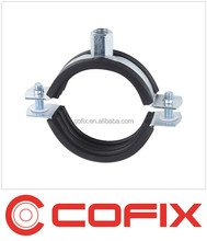 Two screw pipe clamp with EPDM rubber