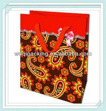 packaging bags/printed t shirt bags / luxury paper bag/new designs 2014