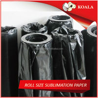 dye sublimation paper rolls 58g for inkjet printer / heat press machine china factory supplier