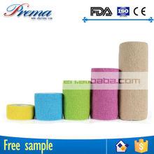 Hot Sale Non-woven Elastic Medical Cohesive Bandage bandages for surgical/sport/athletes