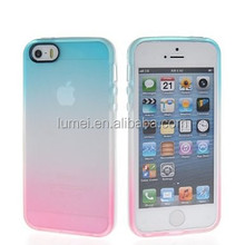 Gradient Flexible Soft Gel Tpu Silicone Skin Slim Back Case Cover For iPhone 5 / 5S