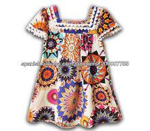 algodón las niñas vestidos de verano,vestido estampado